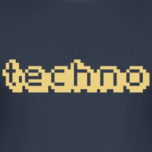 Techno-LCD - Männer Slim Fit T-Shirt