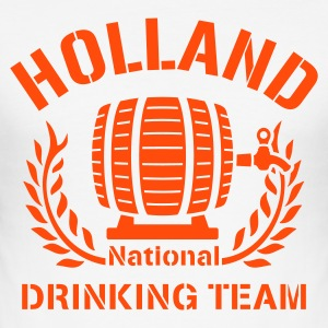 Wit HOLLAND DRINKING TEAM T-shirts - slim fit T-shirt
