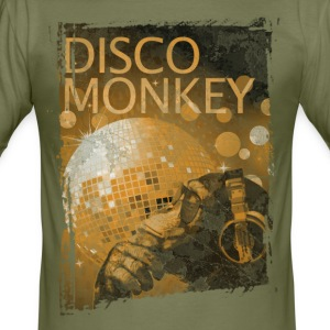 Disco Monkey T-Shirts - Men's Slim Fit T-Shirt