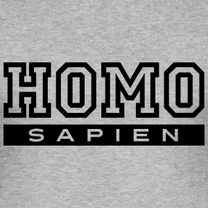HOMO sapien T-Shirts - Men's Slim Fit T-Shirt