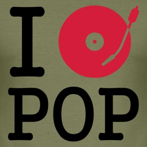 :: I dj / play / listen to pop :-: - Slim Fit T-skjorte for menn