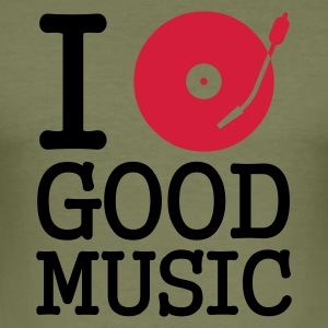 :: I dj / play / listen to good music :-: - Men's Slim Fit T-Shirt