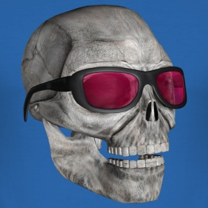 :: skull with sunglasses 3000 :-: - Slim Fit T-shirt herr