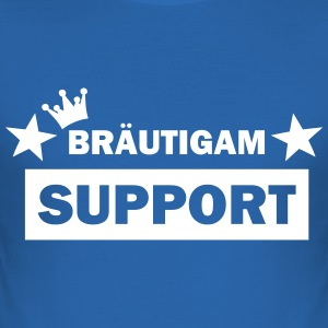 bräutigam support T-Shirts - Männer Slim Fit T-Shirt