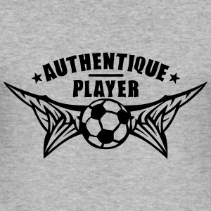 authentique player foot soccer football Tee shirts - Tee shirt près du corps Homme