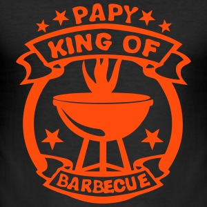 papy king roi barbecue logo fete 1 Tee shirts - Tee shirt près du corps Homme