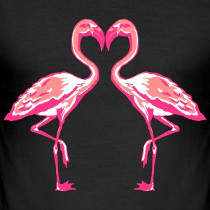 two flamingos T-Shirts - Männer Slim Fit T-Shirt