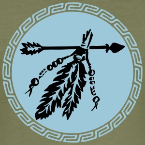 Arrow with feathers, protection & power symbol T-shirts - Herre Slim Fit T-Shirt
