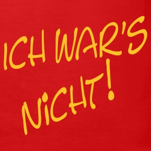 ich war's nicht! | Slim Fit Shirt - Männer Slim Fit T-Shirt