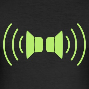 Sort speakers stereo T-shirts - Herre Slim Fit T-Shirt