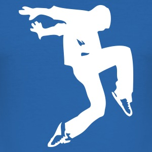 Royalblau break dance luxe T-Shirts - Männer Slim Fit T-Shirt
