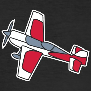 airplane flying glider fliegen flugzeug freedom T-skjorter - Slim Fit T-skjorte for menn