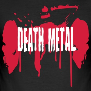Schwarz Death Metal T-Shirts - Männer Slim Fit T-Shirt