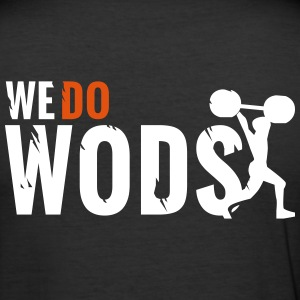 WE DO WODs T-Shirt - Model #1 - Männer Slim Fit T-Shirt