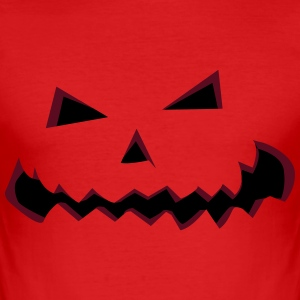 Halloween pumpa vänder  T-shirts - Slim Fit T-shirt herr