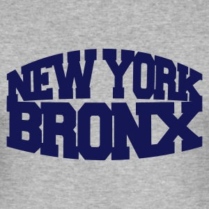 Gråmelert new york bronx T-skjorter - Slim Fit T-skjorte for menn