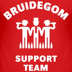 Bruidegom Support Team (Vrijgezellenfeest) T-shirts - slim fit T-shirt