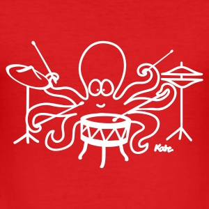 Wijnrood Octopus  T-shirts - slim fit T-shirt