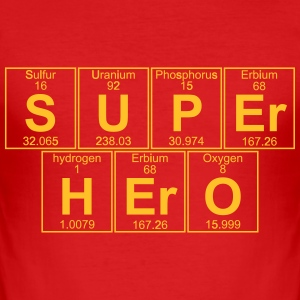 S-U-P-Er H-Er-O (super hero) - Full T-skjorter - Slim Fit T-skjorte for menn