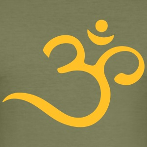 Om, Symbol, Buddhism, Mantra, Meditation, Yoga T-Shirts - Männer Slim Fit T-Shirt
