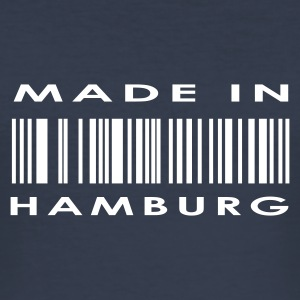 Marineblå Hamborg T-shirts - Herre Slim Fit T-Shirt