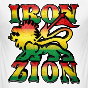 iron lion zion T-Shirts - Men's Slim Fit T-Shirt
