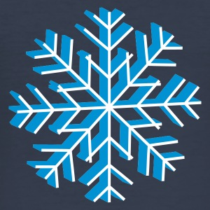 Navy Snowflake 3D Men's T-Shirts - Men's Slim Fit T-Shirt