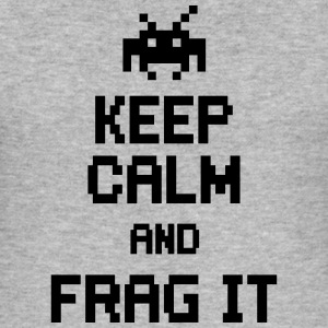 keep calm and frag it T-shirts - Slim Fit T-shirt herr