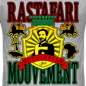 rastafari mouvement ethiopia T-Shirts - Men's Slim Fit T-Shirt