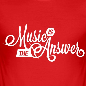 Music is the Answer T-Shirts - Men's Slim Fit T-Shirt