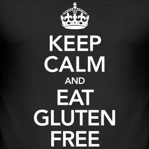 Keep Calm And Eat Gluten Free T-Shirts - Men's Slim Fit T-Shirt