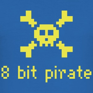 8 bit Pirate - Men's Slim Fit T-Shirt