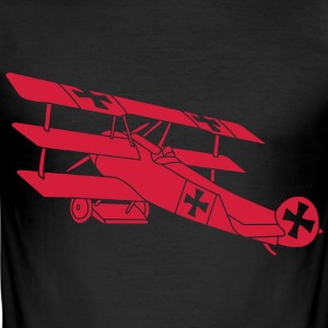Fokker Airplane Flugzeug Roter Baron Red World War T-shirts - Slim Fit T-shirt herr