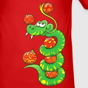 Christmas Snake T-Shirts - Men's Slim Fit T-Shirt