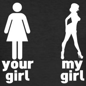 your girl vs my girl T-Shirts - Men's Slim Fit T-Shirt