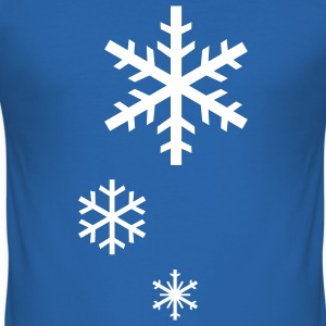 Snowflakes - Slim Fit T-shirt herr