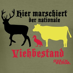 Motiv nationaler Viehbestand - Männer Slim Fit T-Shirt