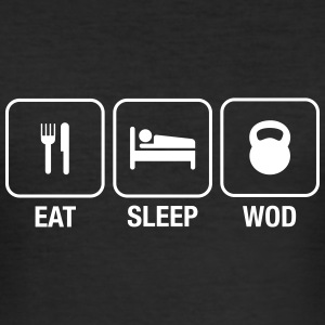 Eat Sleep WOD T-Shirts - Men's Slim Fit T-Shirt