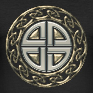 Shield knot, Protection Amulet, Celtic, Germanic,  - Men's Slim Fit T-Shirt