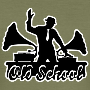 Gramophone musique DJ, Old School, Swing, Electro Tee shirts - Tee shirt près du corps Homme