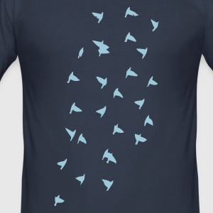 Dark navy A flock of birds. T-Shirts - Men's Slim Fit T-Shirt