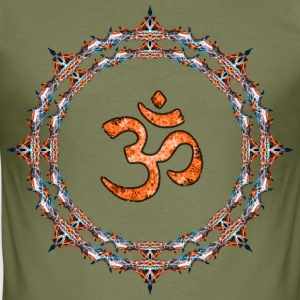 Orange Om T-Shirts - Männer Slim Fit T-Shirt