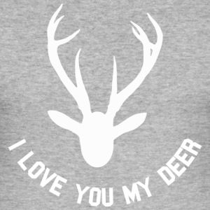 i love you my deer T-Shirts - Männer Slim Fit T-Shirt