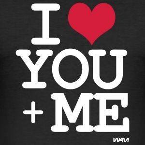 i love you plus me T-shirt - Maglietta aderente da uomo