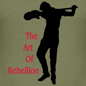 art of rebellion gitarre T-Shirts - Men's Slim Fit T-Shirt