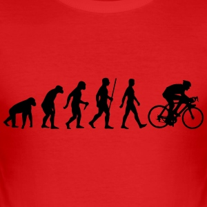 Evolution Rennrad - Männer Slim Fit T-Shirt
