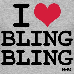 i love bling bling T-shirts - slim fit T-shirt