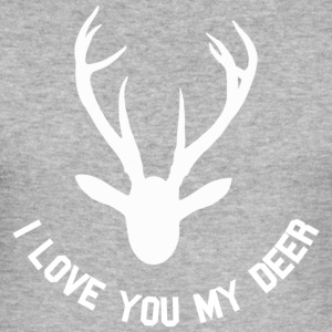 i love you my deer T-skjorter - Slim Fit T-skjorte for menn