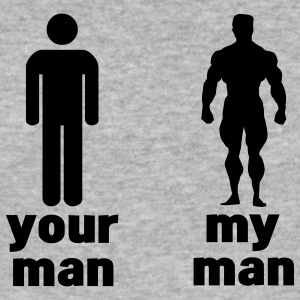 your man vs my man T-skjorter - Slim Fit T-skjorte for menn