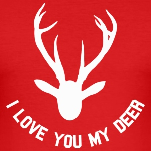 i love you my deer T-shirts - Slim Fit T-shirt herr